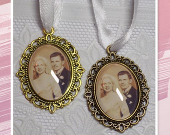 Bridal bouquet Memorial oval gold or bronze