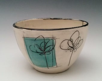 Small Ceramic Bowl, Small Serving Bowl, Ice Cream Bowl. Cereal Bowl, Dessert Bowl, Handmade Porcelain Bowl