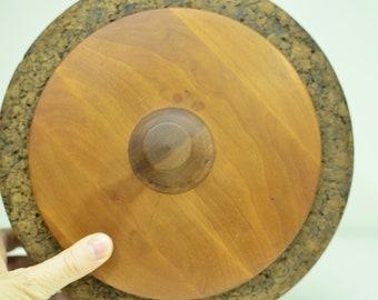 Mitte des Jahrhunderts entworfen Deckel Richard Morgenthau & Co Cork Eiskübel Holz selten zu finden