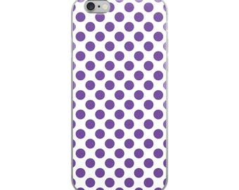 Purple Polka Dots iPhone Case