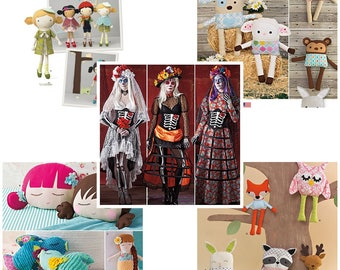 Simplicity patterns: Day of the dead costume and softies