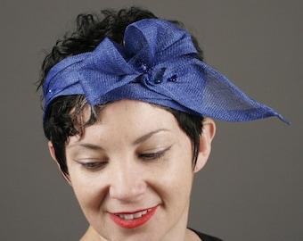 Headband, Straw Headband, Straw Hat Band, 1920's Flapper headpiece, Womens Headband, Kentucky Derby, Downton Abbey
