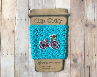 Bicycle, Coffee Sleeve, Cup Cozy, Cup Holder, Coffee Cup Cozy, Cup Sleeve, Coffee Cozy, Coffee Cup Sleeve, Reusable Coffee Sleeve