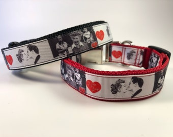 """Handcrafted 1"""" I Love Lucy Inspired Dog Collar"""
