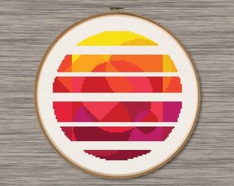 Abstract Sun - PDF Cross Stitch Pattern