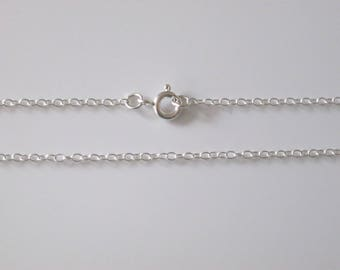 """925 Sterling Silver Fine Trace 1.5mm Necklace Chain 15"""" 16"""" 17"""" 18"""" 19"""" 20"""" 22"""" 24"""" 26"""" 28"""" 30"""""""