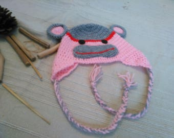 Hihi Hat monkey and Yes, hand made crochet