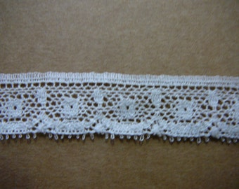 "3/4"" white cotton lace edging 4 yards 32"""