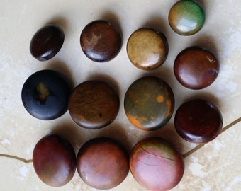 12 Vintage Buttons Wood Appearance but Hard Plastic