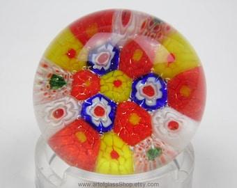 Chinese millefiori glass paperweight