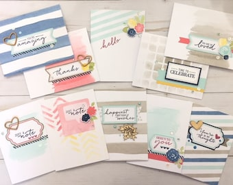 C038 - (10) Handmade All-Occasion Greeting Note Card Set