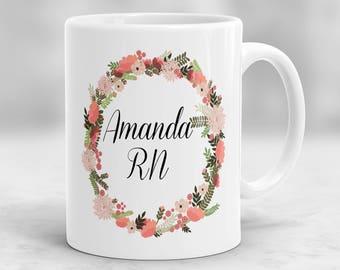 Nurse Mug, Nurse Gift, Personalized Nurse Mug, Nurse Cup, RN Personalized Mug, Registered Nurse Gift, Nurse Graduation Gift P17