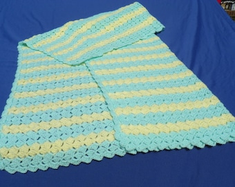 Mint Green and Yellow Baby Afghan