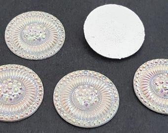 clear rhinestones silver 20 mm x 6
