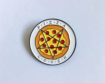 Pizza Coven Enamel Pin