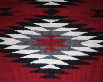 NAVAJO RUG // Navajo Rug Vintage // Navajo Area Rug // Navajo Area Rug Vintage // Navajo Rug Handwoven Wool 24 X 43 // Native American Rug