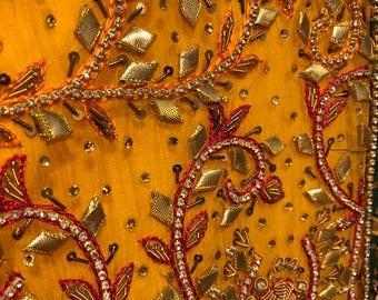 Pakistani mehndi wedding dress
