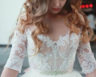 Alana Wedding Dress, Boho Wedding Dress, Simple Wedding Dress, Beach Wedding Dress, Long Sleeve Dress, Princess Gown