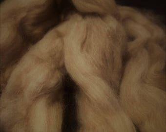 CRAZY Cashmere 100 percent LT BROWN Roving Combed Top  spinning fiber fibre 1 oz
