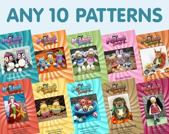 Any 10 Amigurumi/Crochet Patterns of your choice.