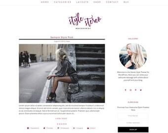 Responsive WordPress Theme   Style Stereo Feminine Blog Design   WordPress Template   Genesis Child Theme