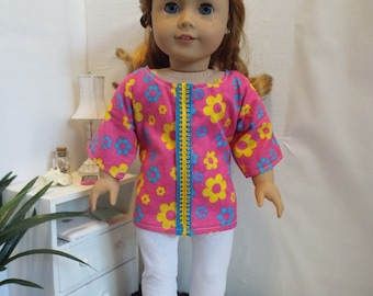 Groovy Baby outfit w/leggings Fits AmericanGirl type dolls
