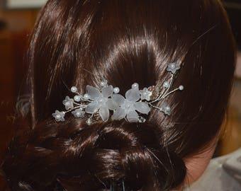 Bridal Hair Pins Wedding Hair Pins Leaves hair pins Pearl hair pins Wedding bobby pins Silver hair pins Bridal bobby pins pearl headpiece
