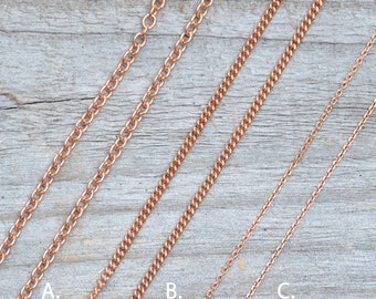 """Trace Chain In Solid 9ct Rose Gold 16"""" for Max,  2nd of 3 monthly instalments"""