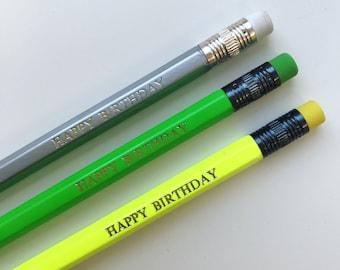 Happy Birthday Pencil