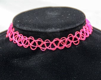 Tattoo Choker Pink