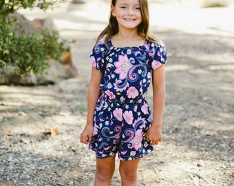 INSTANT DOWNLOAD- Ibiza Romper (Sizes 9/12 months to 12) PDF Sewing Pattern and Tutorial