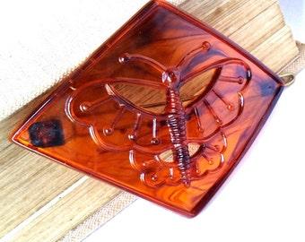Vintage hair barrette, 1960's unused, butterfly hair clip