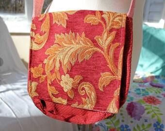 """Upcycled Crossbody-Tasche, 11 """"x 11"""", verstellbarem Schultergurt, Umhängetasche, lässige Tasche, Handtasche, Umhängetasche, Crossbody Tasche, Upcycled Tasche OOAK"""