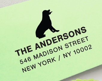 CUSTOM pre inked address STAMP from USA, custom address stamp, pre inked custom address stamp, address stamp with proof - dog lover c6-4 Dog