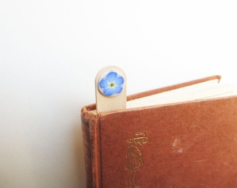 Handmade Forget-me-not Bookmark, Wildflower Bookmark