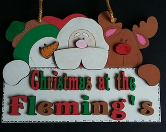 Christmas Friends Wall Hanging