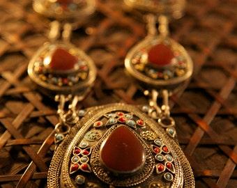 30% OFF ** Red Carnelian Afgan Teardrop Necklace