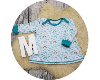 Baby tunic, American neckline, long sleeve tunic, long sleeve, gift, baby, Mitwachstunkia, tunic, Rainbow, Rainbow, clouds, cloud