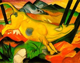 Franz Marc: Yellow Cow. Fine Art Print/Poster. (003320)
