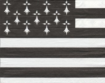 Paper flag BRETON towel 156