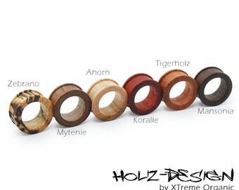 10 - 70mm Pair Wooden Flesh Tunnel handmade ear plugs Gauge Piercing personizeable Organic Flesh Tunnels and Plugs Gauge Jewelry