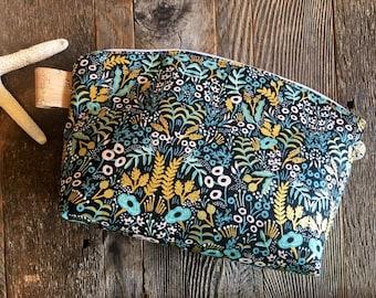 Trousse de toilette, sac sac/cosmétique/crayon/pochette/womens sac/sinueuse surmontée pochette/vegan/ladies sac zippé cas