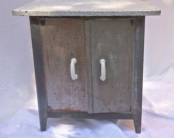 Vintage French Metal Cabinet