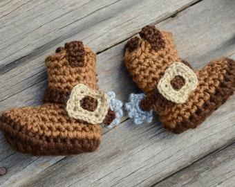 Crochet Cowboy Boots, Baby Cowboy Boots, Horsin' Around Cowboy Boots, Photo Prop, Gift