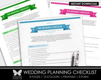 checklist for a wedding