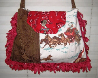 Western crossbody bag purse, gypsy cowboy bag, boho western bag