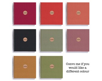Notebook/Sketchbook/Journal • SMALL 14cm/5.5in Square • Polka Dots Choose Your Colour