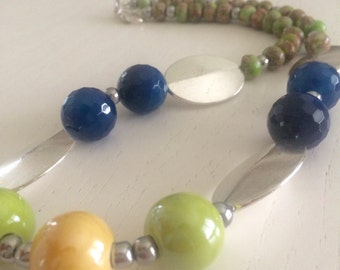 Necklace green lime