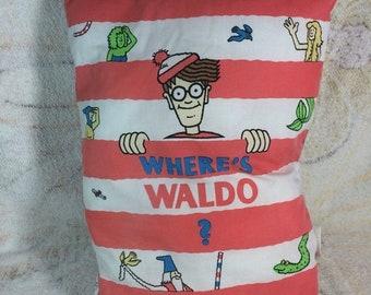 SUMMER SALE 1991 Once Upon a Pillow Wheres Waldo Plush Story Book Pillow Stoneway Books Rare HTF