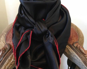 Black Wild Rag with Any Color Stitch